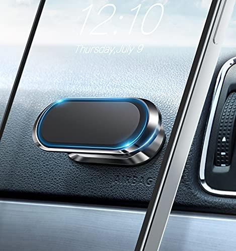 Supporto Cellulare Auto MagneticoAggiorna 8X magneti Supporto telefono con magnete forte, rotazione a 360° del cruscotto e visualizzazione in gradi (nero)