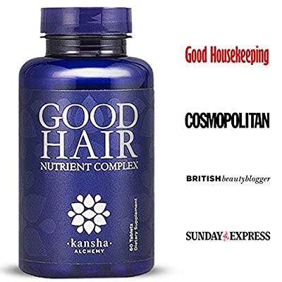 Hair Growth Vitamins with Biotin, DHT Blocker + 30 Other Minerals, Herbs, Fights Hair Loss in Men & Women - Healthier Hair, Skin & Nails from Kansha Brands Ltd
