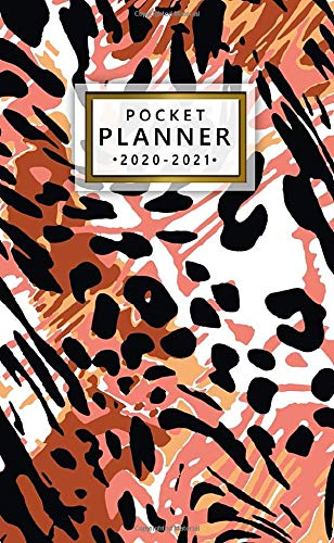 Pocket Planner 2020-2021: Pretty Two Year (24 Months) Monthly Pocket Planner & Schedule Agenda | 2 Year Organizer with Phone Book, Password Log & Notes | Nifty Exotic Leopard Pattern