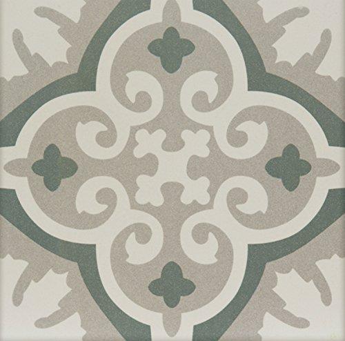 Casa Moro Mediterrane Keramikfliesen orientalisch Muna 20x20 cm 1qm aus Feinsteinzeug in Zementoptik | Bodenfliesen & Wandfliesen für schöne Küche Flur & Badezimmer | FL7012