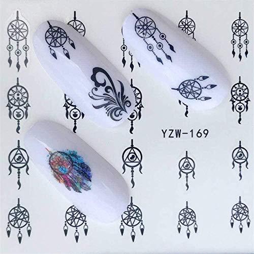 SRTYH Autocollant d'ongle Flower Designs Nail Sticker Set Amniotic fluide décalcomanies transfert coloré curseur conseils Nail Art pastèque Decor BA