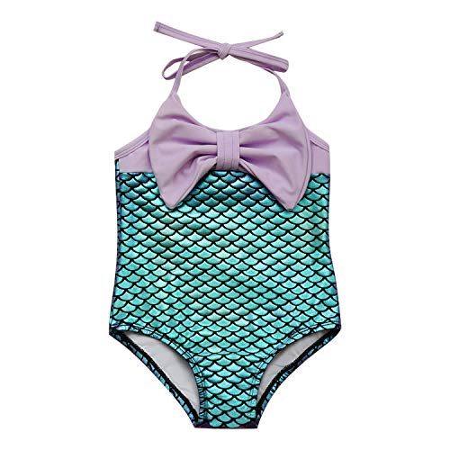 7-Mi Costume da Bagno Ragazza, Sirenetta Bambino Bimba Costume Intero da Bambina-2-6 Anni