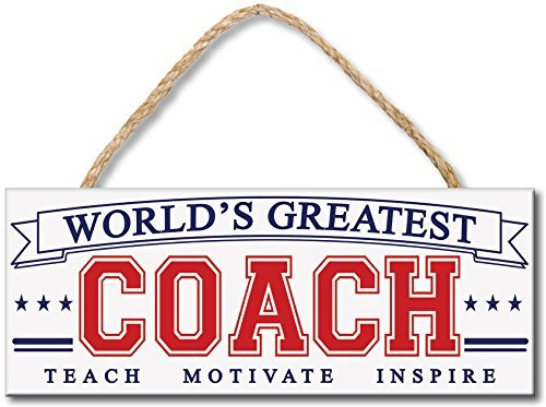 My Word World's Greatest Coach Wood Sign, 4 x 10 by My Word