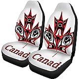 Enoqunt Cubre asientos de coche Brazos Canadiense Nativo Hoja de arce Canadá Citizne País Cultural Universal Auto Asientos delanteros Protector