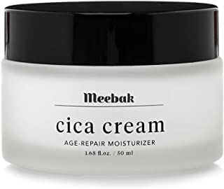Meebak Cica Face Cream Moisturizer 1.7oz, Anti-Aging, Anti-Wrinkles Natural Day Cream and Night Cream