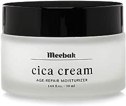 Meebak Cica Face Cream Moisturizer 1.68, Anti-Aging, Anti-Wrinkles Natural Day Cream and Night Cream