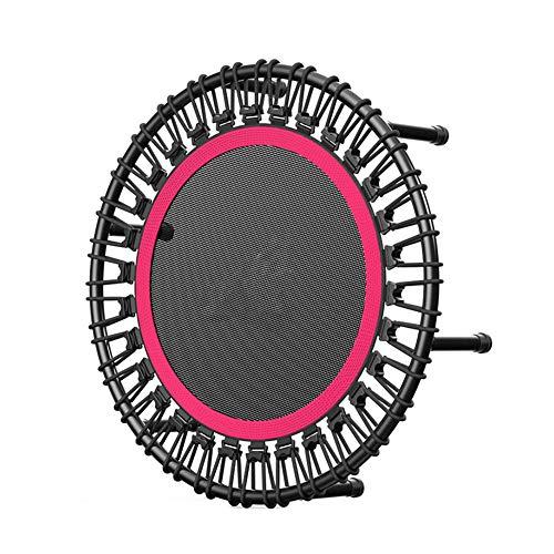 Lzww 40 Inch Round Mini Trampoline Rebounder Indoor Outdoor Jumper for Adult Children Gift,Pink