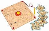 Eduplay Magnetspiel Labyrinth quadratisch mit 6 Vorlagen -