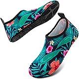 OYODSS Water Shoes Quick-Dry Outdoor Beach Swim Sports Barefoot Aqua Yoga Socks for Women Men (Waterproof Pouch Included) J,Flower Men 11.5-12.5/Women 12.5-13.5