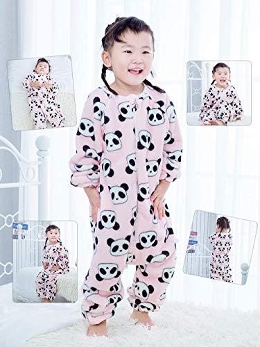 Pijama de bebé Unisex bebé saco de dormir de Otoño de Split pierna larga de las mangas de una sola pieza ropa suave color algodón anti-Kick edredón aprendizaje Caminar Artefacto invierno caliente pija