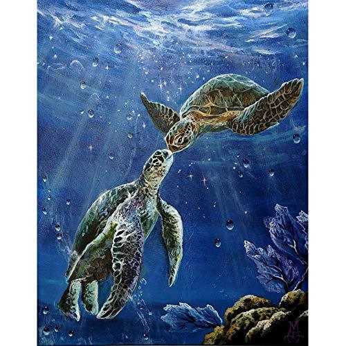 Sunnay Diamond Art,Schildkröte Mode,5D Diamant Painting Set Kaufen Full Stickerei Groß 3D Bilder DIY Diamonds Shop,30 x 40 cm