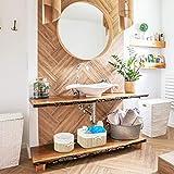 Relaxdays Aufbewahrungskörbe Set Bambus 17,5 x 32 x 23 cm HxBxT, 4er Set Aufbewahrungsbox für Regal und Schrank, natur - 2