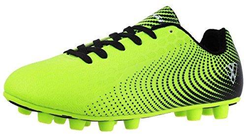 Vizari Kids Stealth FG Soccer Cleats Green/Black 13 M US Little Kid