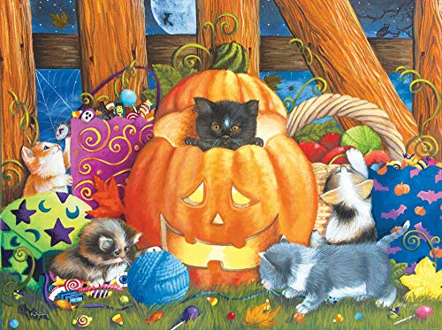 VGFTP Houten puzzel voor volwassenen 1000 stukjes, grappige legpuzzels, huisdecoraties speelgoed Leuke spellen - Halloween Surprise Cartoon anime