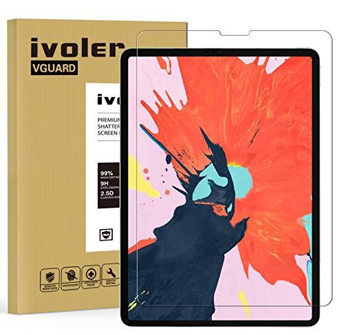 ivoler Panzerglas Schutzfolie für iPad Air 4 2020 10,9 Zoll, iPad Pro 11 Zoll (2020 und 2018 Modell), 9H Härte Panzerglasfolie, Anti-Kratzen Folie, Anti-Bläschen Displayschutzfolie, Hülle freundlich