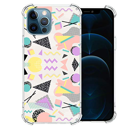 iPhone-12-Pro-Case with Glass Screen Protector, Cute Design Transparent Flower-for-Girls-Women-Best-Protective Slim Fit Clear TPU Soft Silicone Cover Phone Case for iPhone 12 Pro (6)