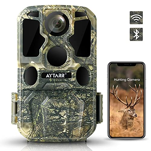 4K Lite (2.7K) 24MP WiFi Wildlife Camera, Bluetooth 850nm Low Glow IR Night Vision Hunting Game...