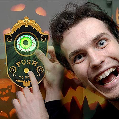 Eyeball Türklingel Halloween-Türglocke lustige Einäugige Geisterbehandlung oder Stunt-Idee, Dekoration, Heiligma-Requisite, gruselige Augen weiß