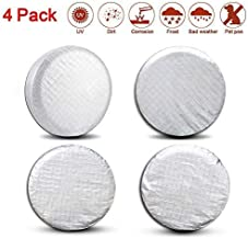 Valleycomfy Set of 4 Tire Covers- Tire Protectors RV Wheel Motorhome Wheel Covers,Waterproof Aluminum Film Tire Sun Protectors,Cotton Lining Tire Covers (36-39inches)