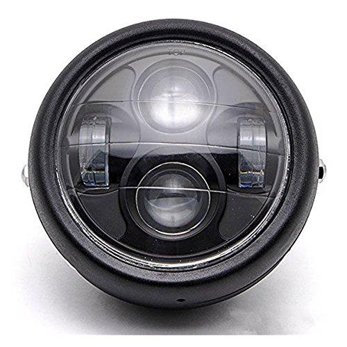 Dlll LED universale in metallo nero 16,5 cm proiettore faro Hi/lo Beam per VT Shadow Spirit Velorex Deluxe 600 750 1100