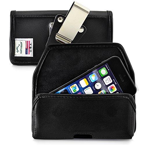 Turtleback Belt Case Made for Apple iPhone SE 5 5c 5s Black Holster Leather...