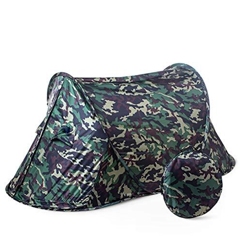 XYZLEO Tente Pop Up éTanche Tente De Camping Camouflage Automatique Construire Grand Espace Tente2 Personnes Portable Pliable Toile De Tente Respirant Se PréMunir Contre Moustique Tentes,Vert