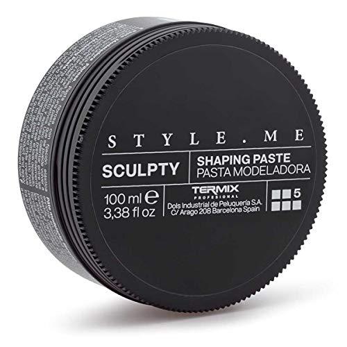 Cera Sculpty Modeladora Style.Me by Termix. Pasta Modeladora de Alta Fijación Proporciona Definición al Peinado. Enriquecida con Quinoa y Orquídea. Tamaño 3,38 Fl Oz. Disponible en 4 Estilos Distintos