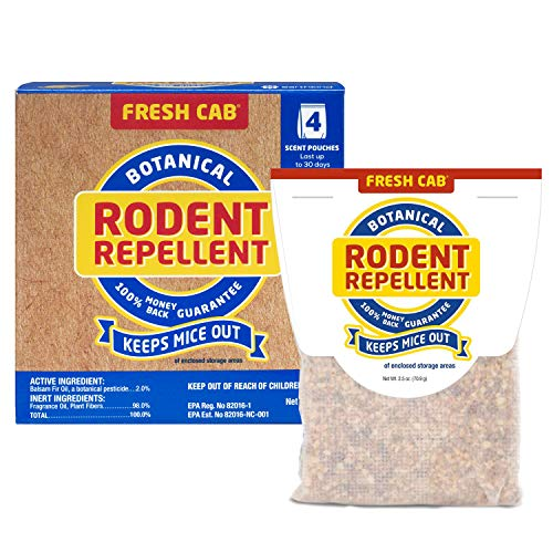 Price comparison product image Fresh Cab Rodent Repellent; Quickly Repelling Pests from Treated Areas; Preventing Re-Infestation for up To 3 Months; Safe for Children,  Pets and the Environment; Non-Toxic; 8-Scent Pouches