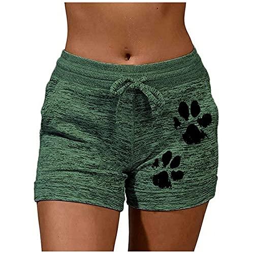 N\P Pantalones cortos deportivos para mujer de verano con pata de perro de secado rápido Skinny Shorts Casual Lady