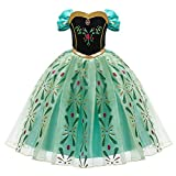 Princesa Disfraz Ana Elsa Frozen Niña Princesa Anna Cosplay Costume Snow Ice Queen...