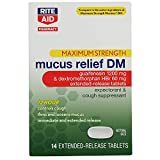 Rite Aid Maximum Strength Mucus Relief DM with 12 Hour Relief - 14 Tablets | Decongestant | Cough Suppressant