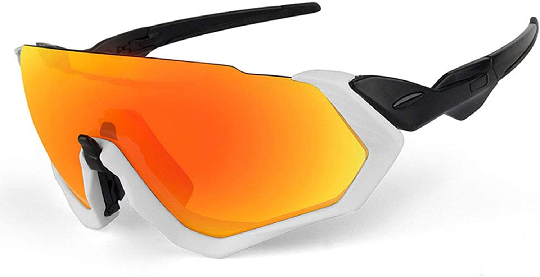 Radfahren Sonnenbrillen Mnner und Frauen Radfahren Laufbrille Polarisierte Sport-Sonnenbrille Superlight Frame Design für Herren und Damen 3 Wechselglser 6 Farben Fahrradfahren im Freien Sport Sonne