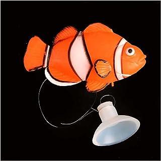 1 قطعة الحوض الديكور البحرية الاستوائية خزان الأسماك المناظر الطبيعية تصفية محاكاة الحلي وهمية الحلي (Color : Orange and W...