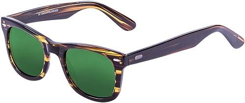 Ocean Sunglasses Faibleers Lunettes de Soleil Mixte Adulte, marron Revo vert Lens