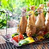 Tokenhigh Support vertical pour cales de poulet - En acier inoxydable
