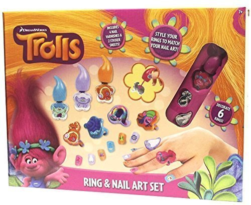 RMS Royal Medical Solutions, Inc. DreamWorks Trolls Rings & Nail Art Jewellery Set