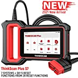 ThinkScan Plus S7 Diagnostic Scan Tool Full Enhanced OBDII Scanner Code Reader for ABS SRS Engine Transmission Body AC IC with 28 Reset Functions (5 Optionals), One-Click WiFi Free Update
