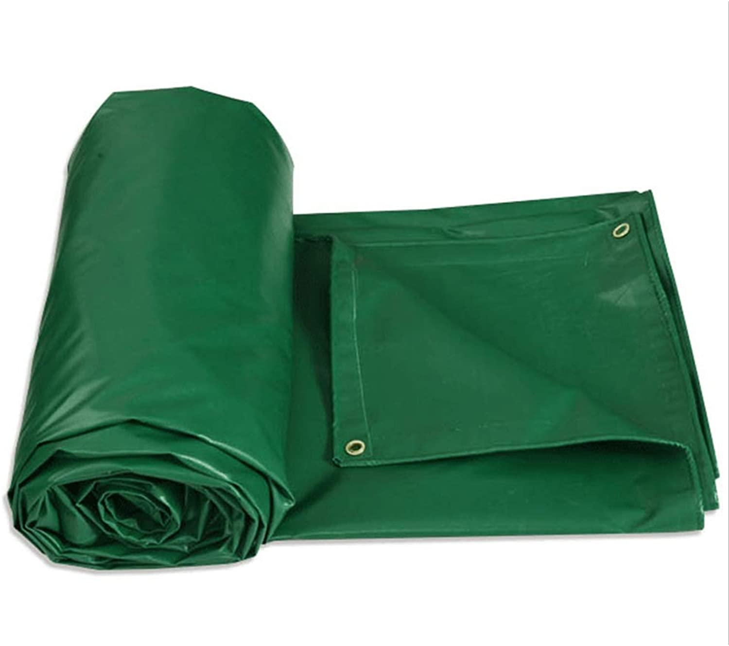 HXLG Thickened Waterproof Cover Truck Waterproof Sunscreen Tarpaulin Outdoor Car Tarp Ground Sheet Cover (color   Green, Size   1.85x1.4m)