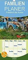 Friedhof der Autos - Familienplaner hoch (Wandkalender 2022 , 21 cm x 45 cm, hoch): Das natuerliche Ende jener Autos, die der Presse entgehen. (Monatskalender, 14 Seiten )