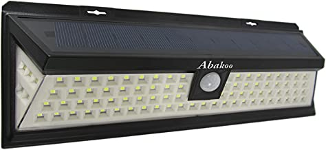 Abakoo solar lights outdoor Upgraded Solar LED Light Motion Sensor light outdoor lighting outdoor wall light, 90 LEDs Super Bright Waterproof Wide Lighting Angle, for garden garage patio deck 1 pack