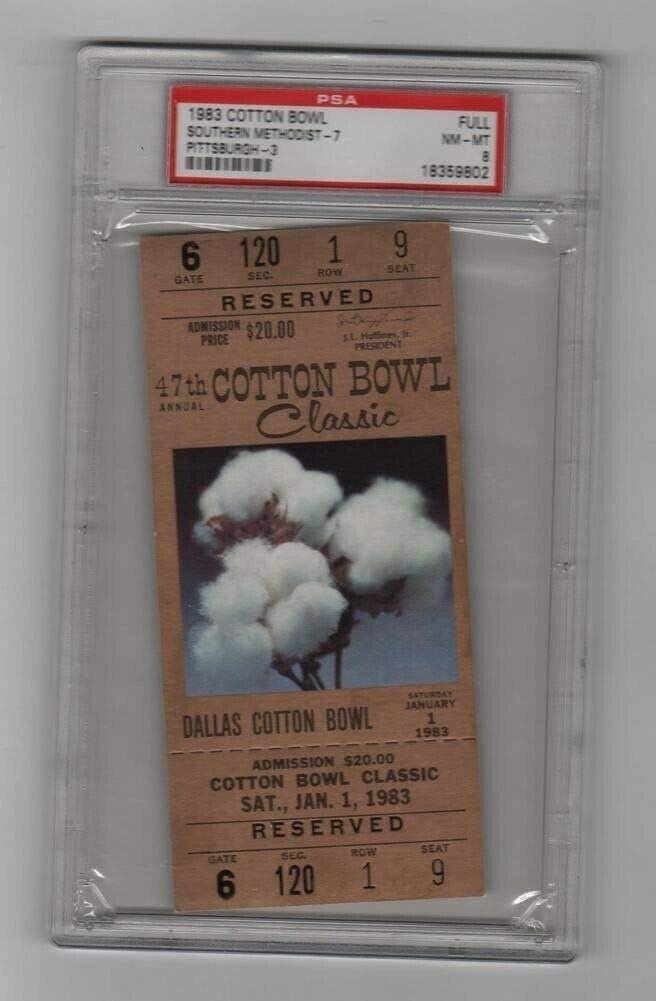 1983 Cotton Bowl Lowest price challenge Full Max 40% OFF Ticket SMU v H Pitt 1 Marino Dickerson Pop
