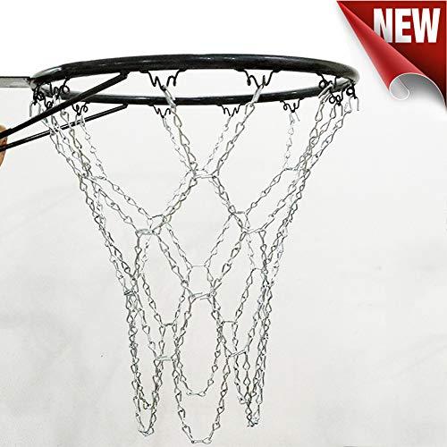 MUYI Rete da Basket galvanizzata con 12 Fibbie per Interni ed Esterni