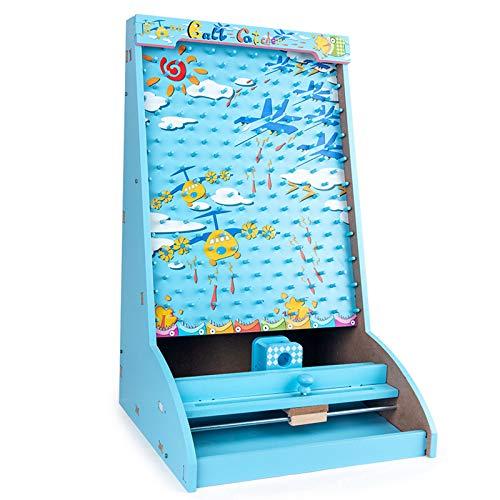 LPing Divertida máquina de Pinball para niños,Juego de máquina de Pinball de Mesa,Juguetes de Batalla de Rompecabezas para niños de educación Infantil temprana, (Azul)