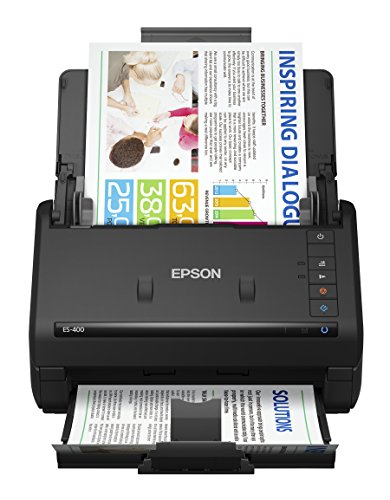 Epson WorkForce ES-400 Color Duplex Document Scanner for PC and Mac, Auto Document Feeder (ADF)