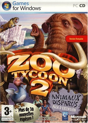 Zoo Tycoon 2 Extinct Animals Expansion Pack French Version