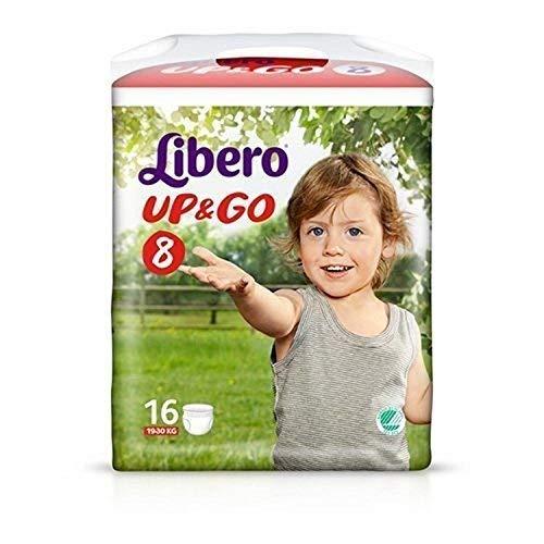 Libero Up&Go taglia 8 (19-30Kg) 16 pannolini mutandina