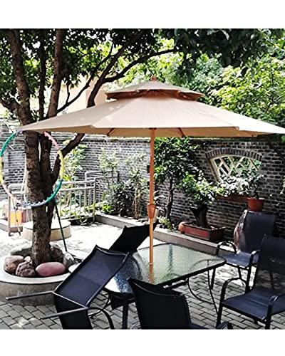Parasol Exterior Sombrilla Playa Grande Antiviento, sombrilla de protección UV 50+, poste de 38 mm, 8 costillas, base no incluida, para jardín, terraza, patio trasero, piscina, uso interior al aire li