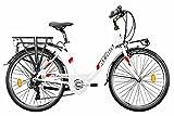 NUOVO MODELLO ATALA 2021 BICI Trekking Front ELETTRICA E-Bike E-Run 6.1 WHITE/RED BATTERIA 360...