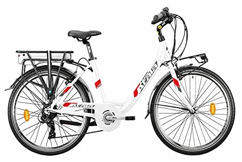 Modelo Atala 2021 - Bicicleta de trekking eléctrica E-Run 6.1, color blanco...