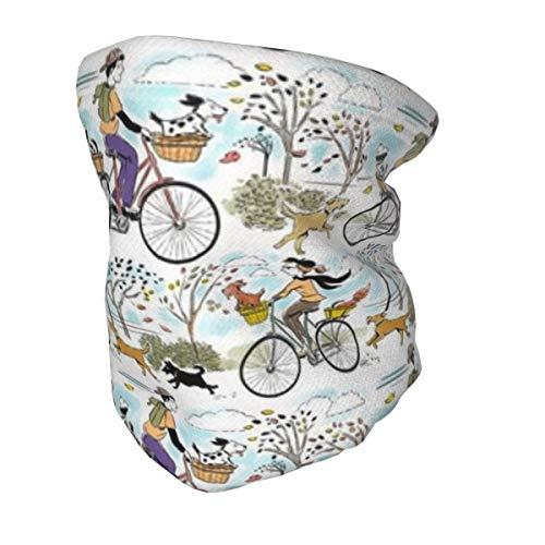Bandana protectora para el cuello con protección UV para niños, para bicicletas retro y perro, lavable, reutilizable, pasamontañas para pesca, senderismo